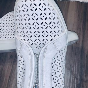 White Leather Tennis Shoes size 8
